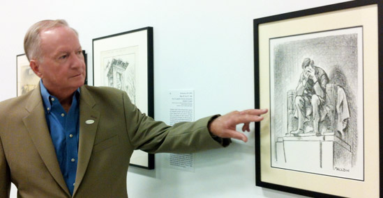 Collector Dr. Charles Mahan explains an iconic work by Bill Mauldin, created and published mere hours after the assassination of President John F. Kennedy
