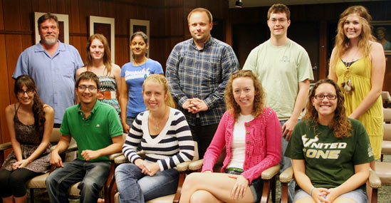 USF Honors College students in the Spring 2012 research colloquium