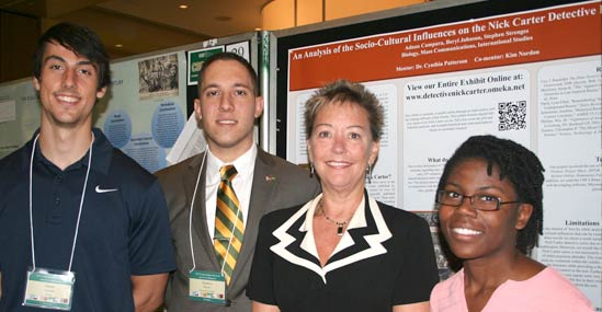 Adnan Campara, Stephen Strenges, and Beryl Johnson focused on the Detective Nick Carter series of Dime Novels for their research projectAdnan Campara, Stephen Strenges, and Beryl Johnson focused on the Detective Nick Carter series of Dime Novels for their research project