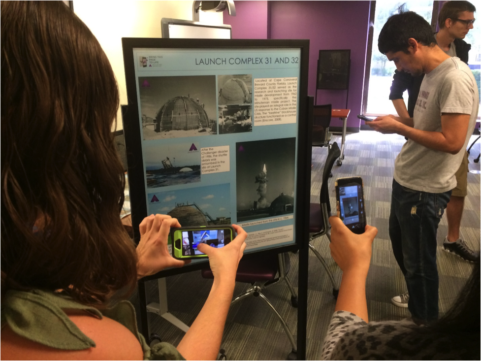 In 2015, students from Dr. Collins' Museum Visualization Class used Cape Canaveral 3D data to create a virtual exhibit in the Digital Media Commons area of the USF Library.